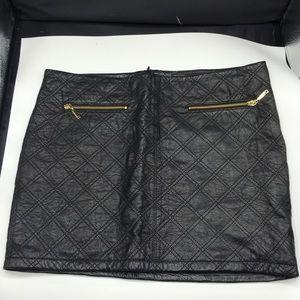 (EUC) 🎉🎉🎉Zara leather mini skirts